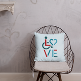LOVE (for the Special Needs Community) Pillow Stacked Design 3 of 3