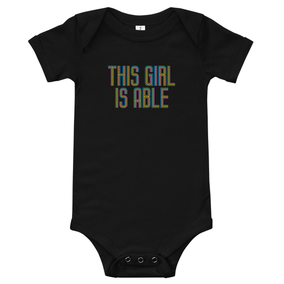 baby onesie babysuit bodysuit This Girl is Able abled ability abilities differently abled able-bodied disabilities girl power disability disabled wheelchair