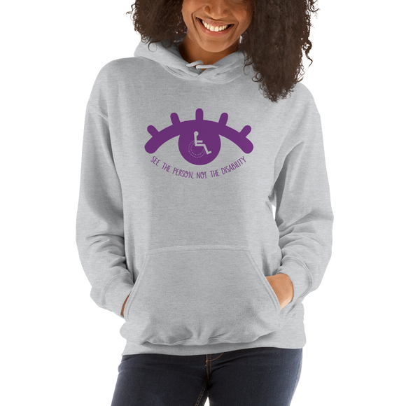 hoodie see the person not the disability wheelchair inclusion inclusivity acceptance special needs awareness diversity