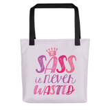 tote bag sass is never wasted sassy Raising Dion Esperanza fan Netflix Sammi Haney girl wheelchair pink glasses disability osteogenesis imperfecta