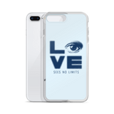 Love Sees No Limits (Halftone Stacked Design, iPhone Case)