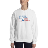 See the Person, Not the Disability (Unisex Sweatshirt Light Colors)