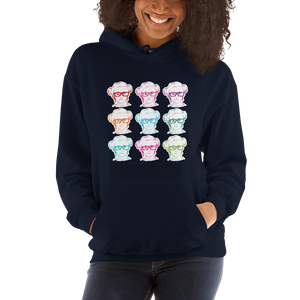 hoodie 9 Different Colored Faces of Sammi Haney Esperanza Netflix Raising Dion fan sassy wheelchair pink glasses disability osteogenesis imperfecta OI