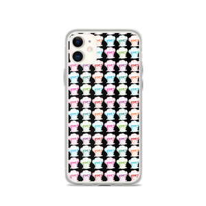 iPhone case print all over Different Colored Faces of Sammi Haney Esperanza Netflix Raising Dion fan sassy wheelchair pink glasses disability osteogenesis imperfecta OI