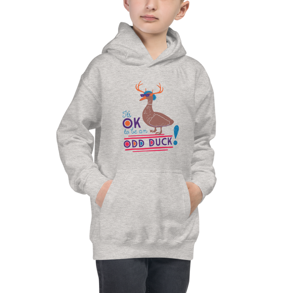 kid's hoodie It's OK to be an odd duck Raising Dion Esperanza fan Netflix Sammi Haney different bird