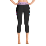 Different Does Not Equal Less (As Seen on Netflix's Raising Dion) Black Yoga Capri Leggings