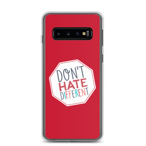 Samsung case Don't hate different stop inclusiveness discrimination prejudice ableism disability special needs awareness diversity inclusion acceptance