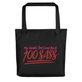 tote bag My Genetic Test Came Back 100 Sass sassy DNA 100 100% results Raising Dion Esperanza Sammi Haney rare disease chromosomes
