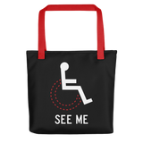 See Me (Not My Disability) Black Tote Bag