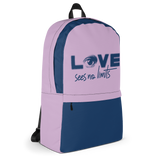 Love Sees No Limits (Halftone Design, Backpack)