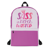 backpack school sass is never wasted sassy Raising Dion Esperanza fan Netflix Sammi Haney girl wheelchair pink glasses disability osteogenesis imperfecta
