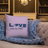 Love Sees No Limits (Halftone Design, Pillow)