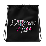 Different Does Not Equal Less (As Seen on Netflix's Raising Dion) Black Drawstring Bag