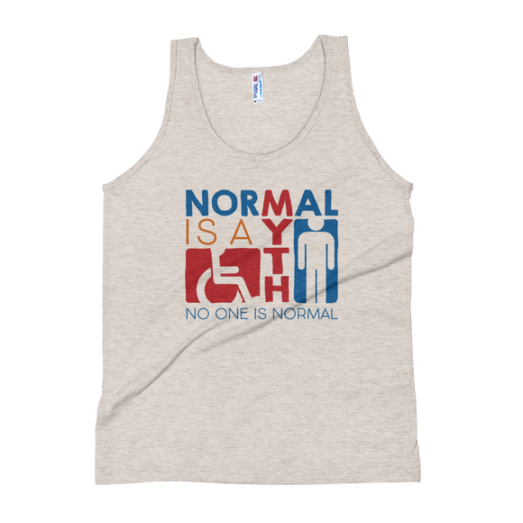 tank top Normal is a myth sign icons people disabled handicapped able-bodied non-disabled popularity disability special needs
