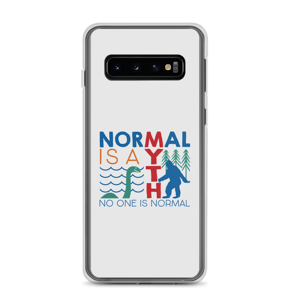 Samsung case normal is a myth big foot loch ness lochness yeti sasquatch disability special needs awareness inclusivity acceptance activism