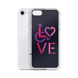 LOVE (for the Special Needs Community) iPhone Case Stacked Design 2 of 3