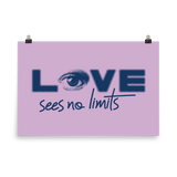 Love Sees No Limits (Halftone Design, Poster)