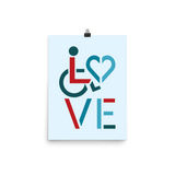 LOVE (for the Special Needs Community) Poster Stacked Design 3 of 3
