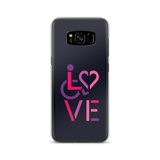 LOVE (for the Special Needs Community) Samsung Case Stacked Design 2 of 3