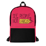 backpack school people labels label disability special needs awareness diversity wheelchair inclusion inclusivity acceptance
