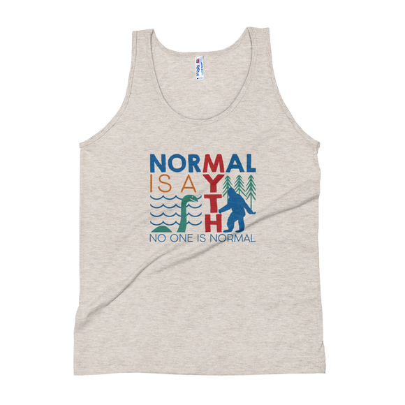 tank top normal is a myth big foot loch ness lochness yeti sasquatch disability special needs awareness inclusivity acceptance activism