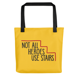 tote bag Not All Heroes Use Stairs hero role model super star ableism disability rights inclusion wheelchair disability inclusive disabilities