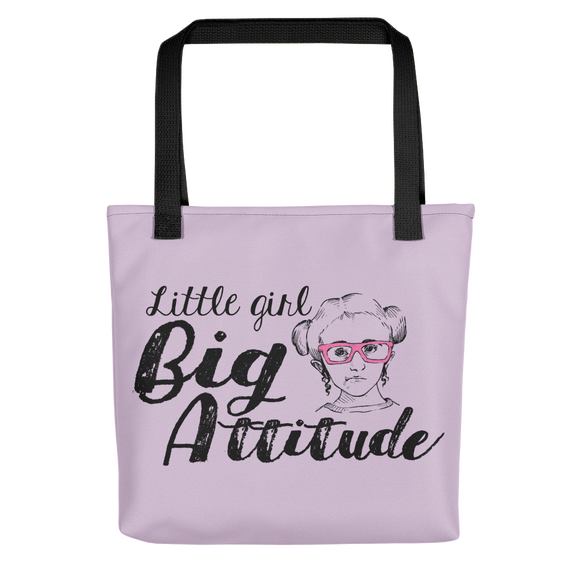 tote bag Shirt Little Girl Big Attitude Raising Dion Esperanza fan Netflix Sammi Haney wheelchair pink glasses sass sassy disability osteogenesis imperfecta