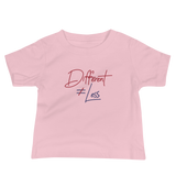 Different Does Not Equal Less (Original Clean Design) Baby Light Color Shirts