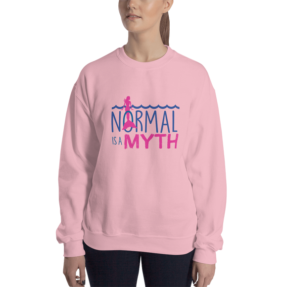 sweatshirt normal is a myth mermaid peer pressure popularity disability special needs awareness inclusivity acceptance