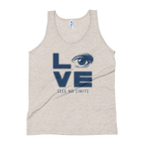 tank top love sees no limits halftone eye luv heart disability special needs expectations future