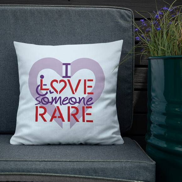 pillow I Love Someone with a Rare Condition medical disability disabilities awareness inclusion inclusivity diversity genetic disorder