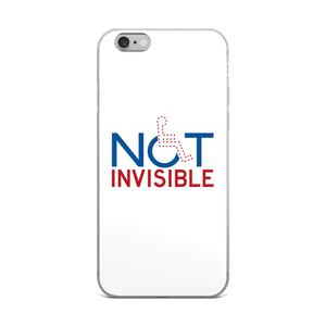 iPhone Case not invisible disabled disability special needs visible awareness diversity wheelchair inclusion inclusivity impaired acceptance