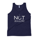 tank top not invisible disabled disability special needs visible awareness diversity wheelchair inclusion inclusivity impaired acceptance