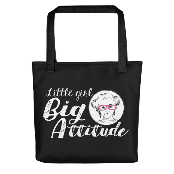 tote bag Little Girl Big Attitude Raising Dion Esperanza fan Netflix Sammi Haney wheelchair pink glasses sass sassy disability osteogenesis imperfecta