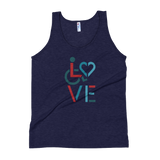 LOVE (for the Special Needs Community) Unisex Tank Top Stacked Design 3 of 3