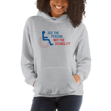 See the Person, Not the Disability (Hoodie White/Grey)
