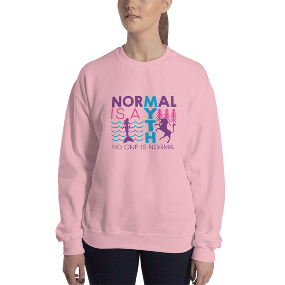 sweatshirt normal is a myth mermaid unicorn peer pressure popularity disability special needs awareness inclusivity acceptance