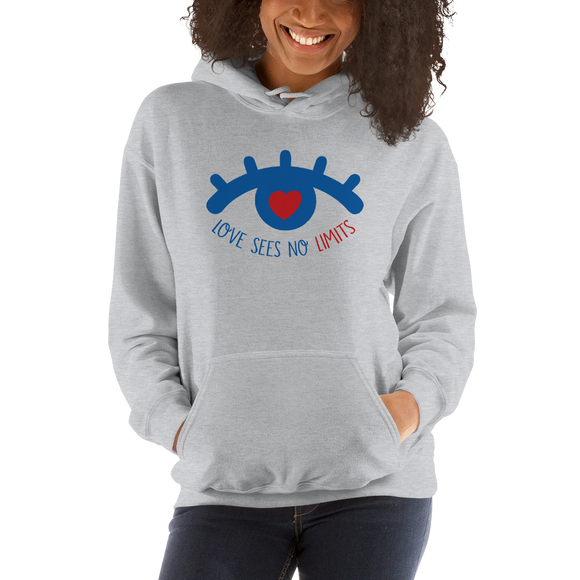hoodie love sees no limits halftone eye luv heart disability special needs expectations future