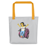 Esperanza From Raising Dion (Yellow Cartoon) D.D.N.E.L. Grey Tote Bag