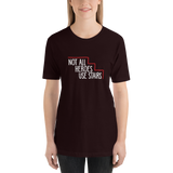 Not All Heroes Use Stairs (Dark Unisex Shirt)
