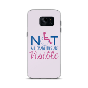 Samsung phone case not all disabilities are visible invisible disabilities hidden non-visible unseen mental disabled Psychiatric neurological chronic