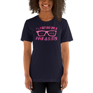 Shirt My Perspective is Very Pink & Sassy Fan Sammi Haney glasses Esperanza Netflix Raising Dion little girl wheelchair sass