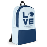 Love Sees No Limits (Halftone Stacked Design, Backpack)