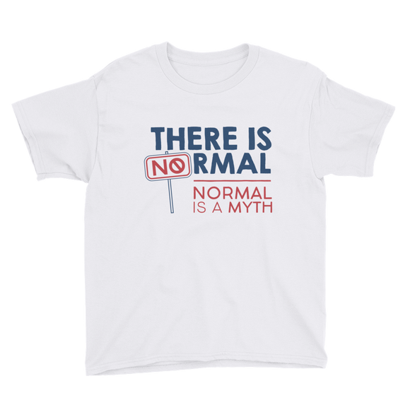 youth Shirt there is no normal myth peer pressure popularity disability special needs awareness diversity inclusion inclusivity acceptance activism