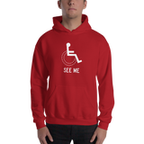 See Me (Not My Disability) Unisex Hoodie Dark Colors