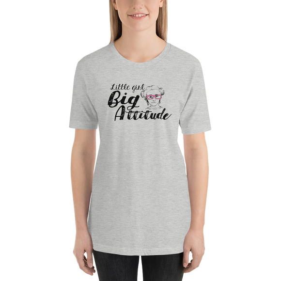 Shirt Little Girl Big Attitude Raising Dion Esperanza fan Netflix Sammi Haney wheelchair pink glasses sass sassy disability osteogenesis imperfecta