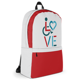 LOVE (for the Special Needs Community) Backpack Stacked Design 3 of 3