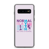 Samsung case normal is a myth mermaid unicorn peer pressure popularity disability special needs awareness inclusivity acceptance