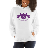 See the Person, Not the Disability (Eyelash Design) Hoodie White/Grey