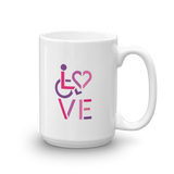 LOVE (for the Special Needs Community) Mug Stacked Design 2 of 3